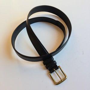 Black Leather Belt 46